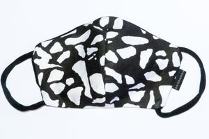 Black & White Terrazzo Face Mask ( large size)
