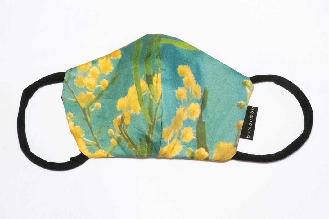 Green Wattle Face Mask ( medium )