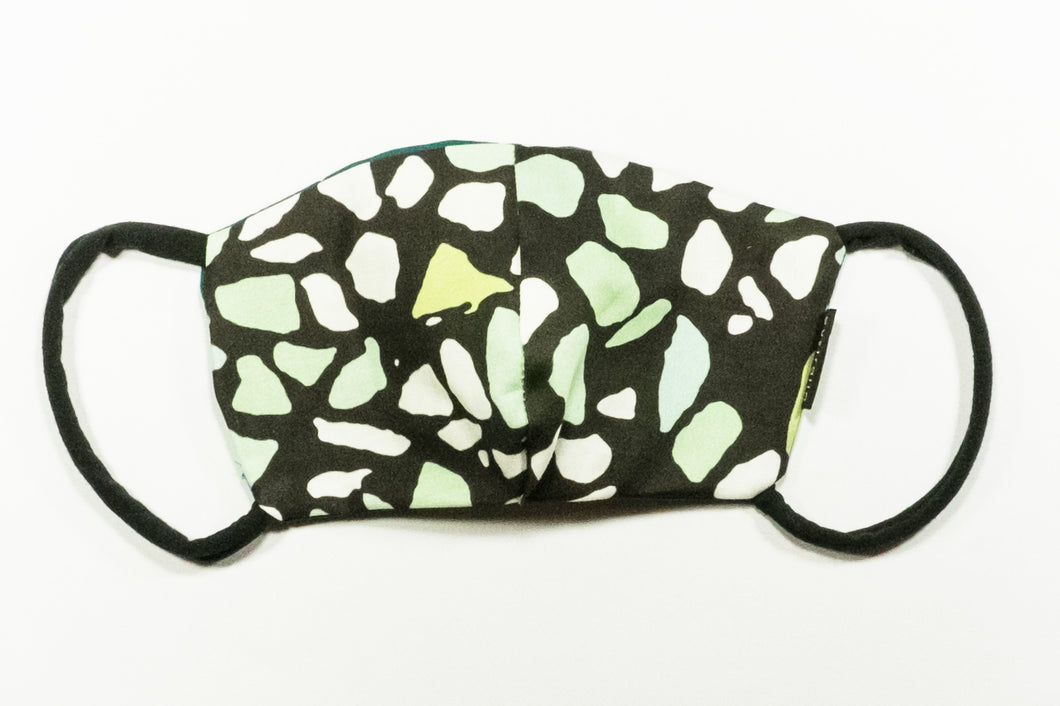 Serene Green Terrazzo print face mask ( medium size )