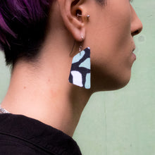 Load image into Gallery viewer, Serene Green Terrazzo print earrings