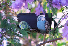 Load image into Gallery viewer, Black Budgie Nik Nak clutch bag