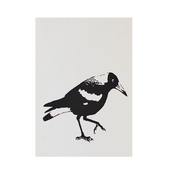 Magpie tea towel
