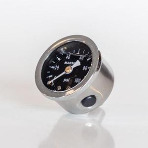 Pressure Gauges Liquid filled 1/8 Back Mount-J & J Hi-Performace