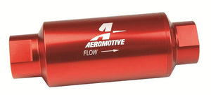"AEROMOTIVE - 10AN FUEL FILTER - E85 - 5.5"" LONG - 100 MICRON - RED - 12304"