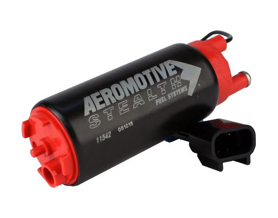 Aeromotive 340 Stealth Fuel Pump - Offset Inlet Inline w/ Outlet