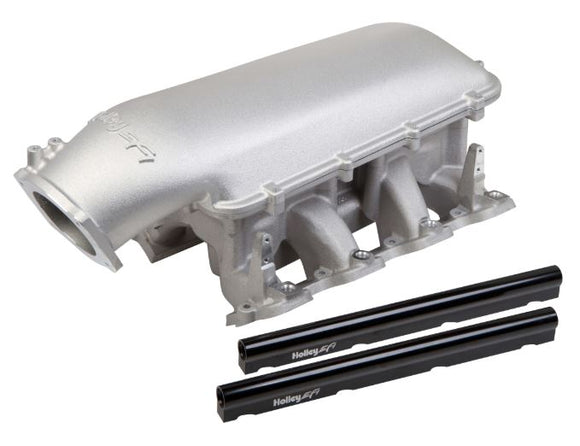 Holley Mid-Rise Intake - GM LS1/LS2/LS6 w/ 92mm Top - Satin 300-126