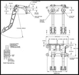 Swing Mount Tandem Brake and Clutch Pedal 1