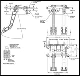 Swing Mount Tandem Brake and Clutch Pedal 2