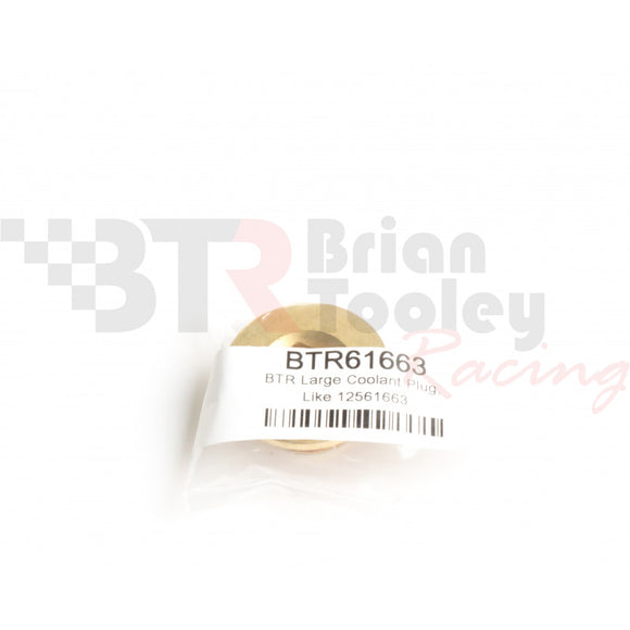 BTR LS ENGINE BLOCK LARGE BRASS COOLANT PLUG, LIKE 12561663