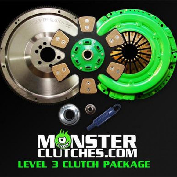 MONSTER LEVEL 3 FBODY CLUTCH KIT W/BILLET STEEL FLYWHEEL (12