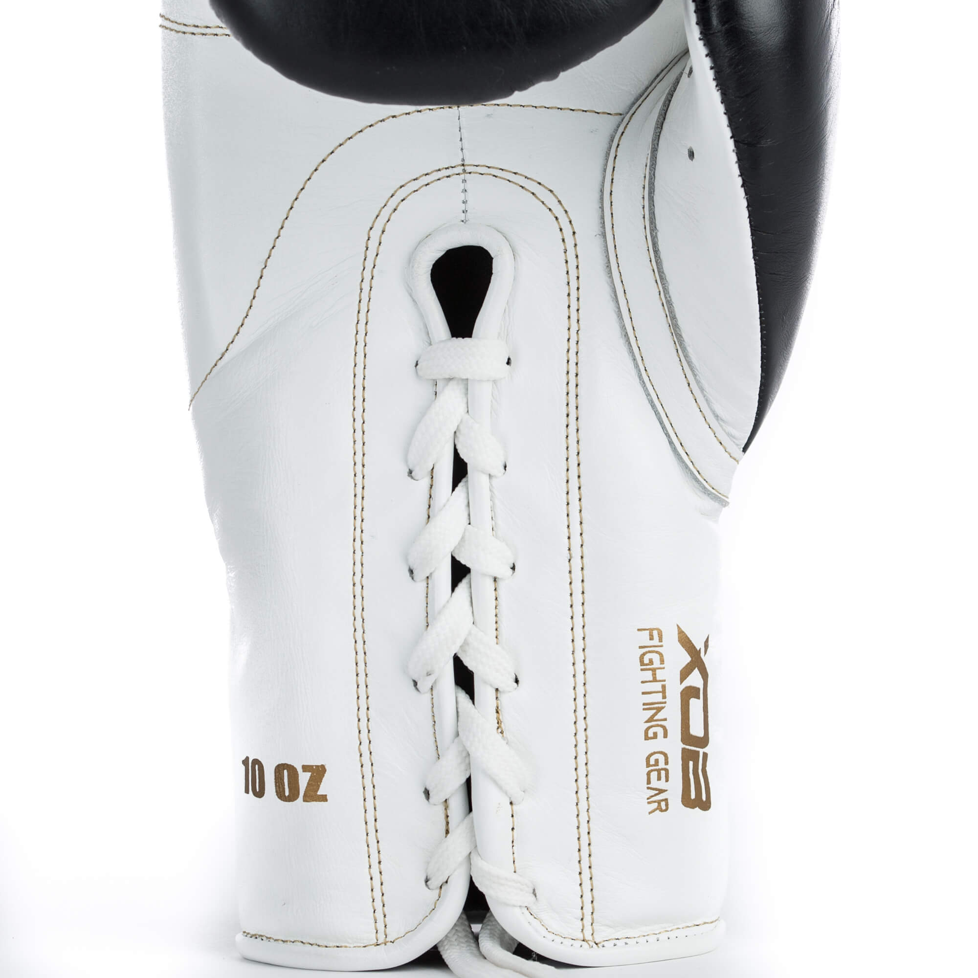 XOB Topglove Laced Boxing Gloves - Black & White