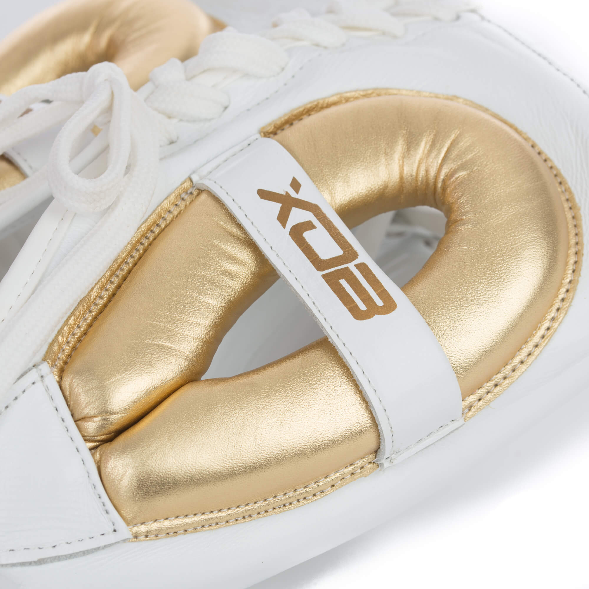 XOB Original Serie 200 Sparring Headgear - White & Gold