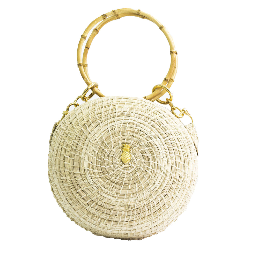 Tambor bag round bamboo handle