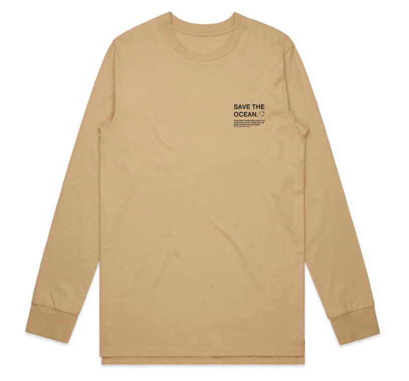 Save The Ocean Three Cotton Long-Sleeve Tee Unisex
