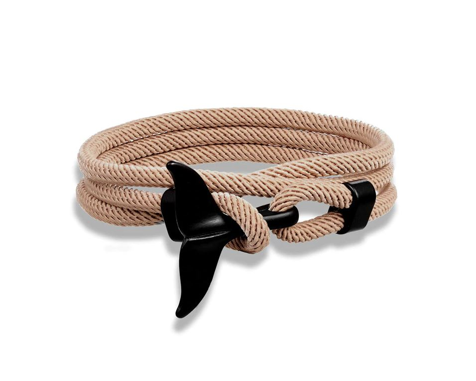 Ark & Sea Whale Tail Bracelet Brown
