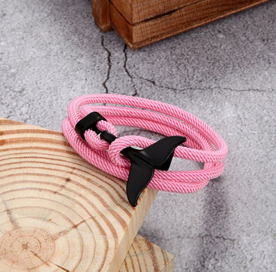 Ark & Sea Whale Tail Bracelet Pink