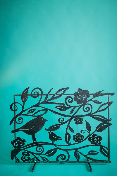 Lovely Birds Fireplace Screen