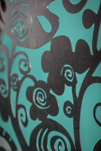 Funky Floral Fireplace Screen