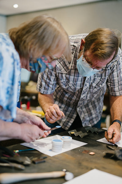 Young Adults Beginning Metalsmithing