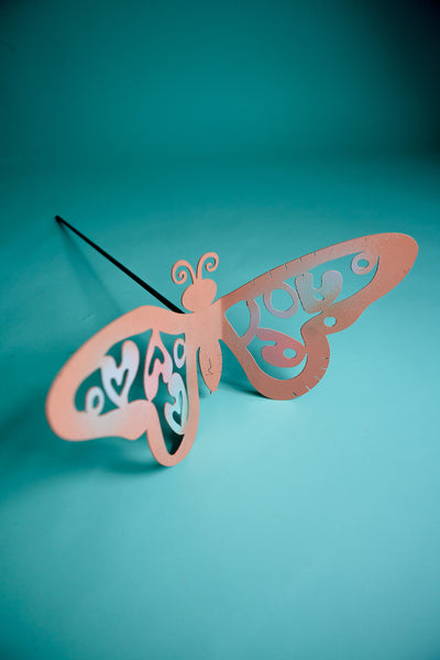 3D Butterfly Pole Large