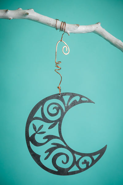 Floral Moon Hanging