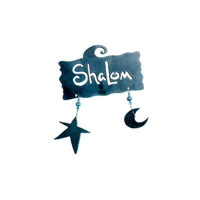 Shalom Sign with 2 Diddies