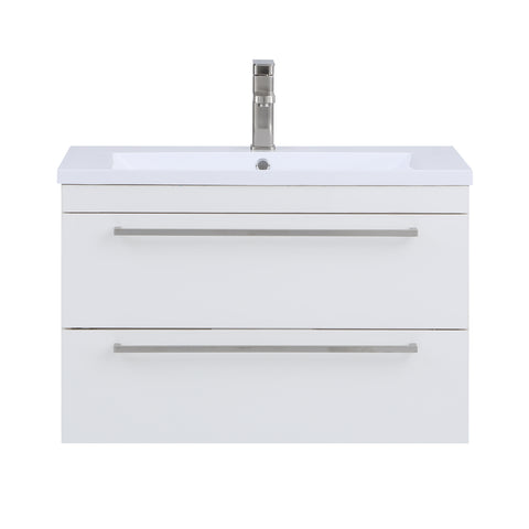 Stufurhome Riley 30 inch Wall Mounted Single Sink Bathroom Vanity, No Mirror