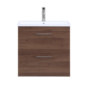 Stufurhome Harper 24 inch Wall Mounted Single Sink Bathroom Vanity, No Mirror