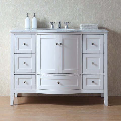 Stufurhome Marilyn 48 Inch Bathroom Sink Vanity Cabinet