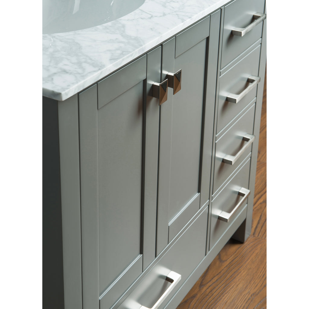 Stufurhome 36 inch Malibu Grey Single Sink Bathroom Vanity