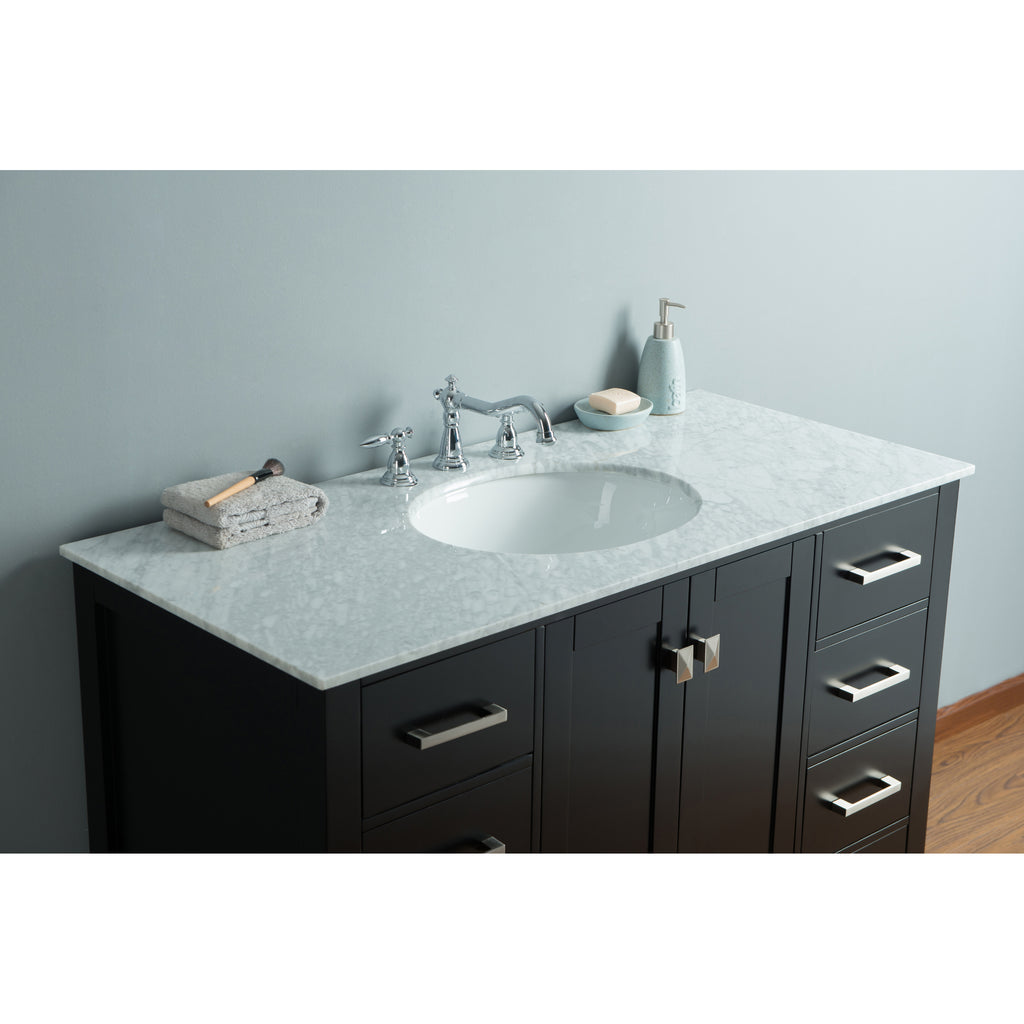 Stufurhome 48 inch Malibu Espresso Single Sink Bathroom Vanity