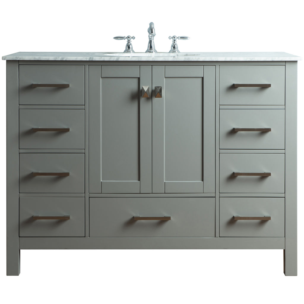 Stufurhome 48 inch Malibu Grey Single Sink Bathroom Vanity