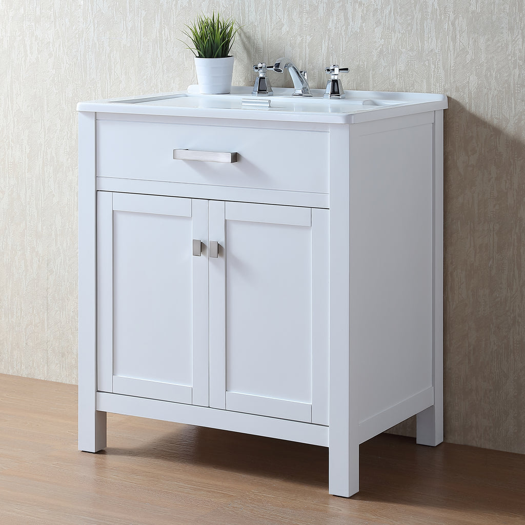 Stufurhome Radiant 30 Inch Laundry Sink Cabinet