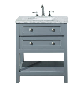 Stufurhome Marla 30 inch Grey Single Sink Bathroom Vanity