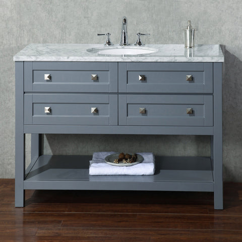 Stufurhome Marla 48 inch Grey Single Sink Bathroom Vanity