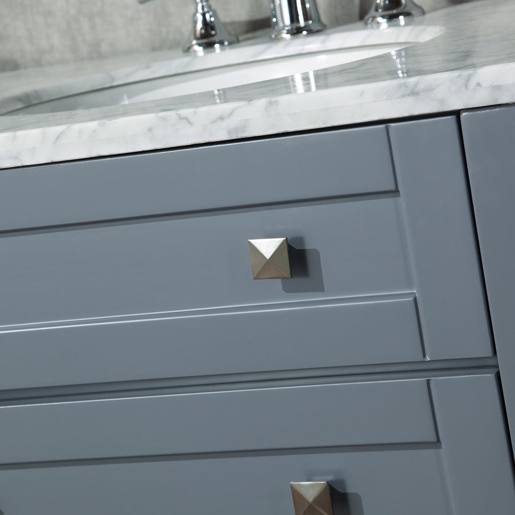 Stufurhome Marla 72 inch Grey Double Sink Bathroom Vanity
