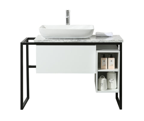 Stufurhome Icelander 43 Inch Single Sink Bathroom Vanity