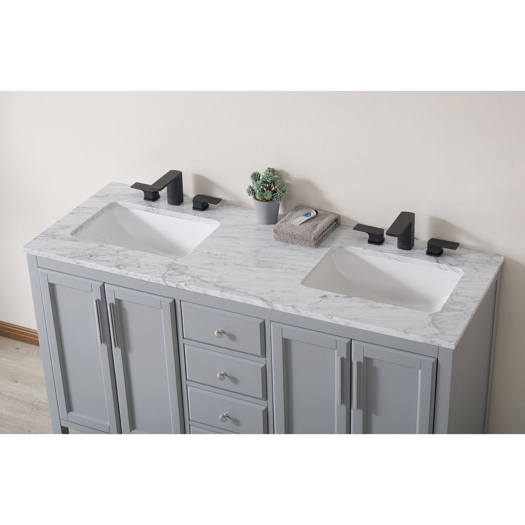 Remarkable Stufurhome Wright 59 Inch Grey Double Sink Bathroom Vanity Download Free Architecture Designs Scobabritishbridgeorg