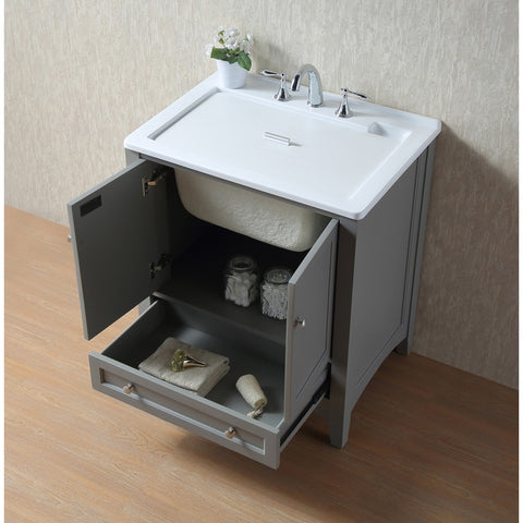 Stufurhome 30 inch Grey Laundry Utility Sink