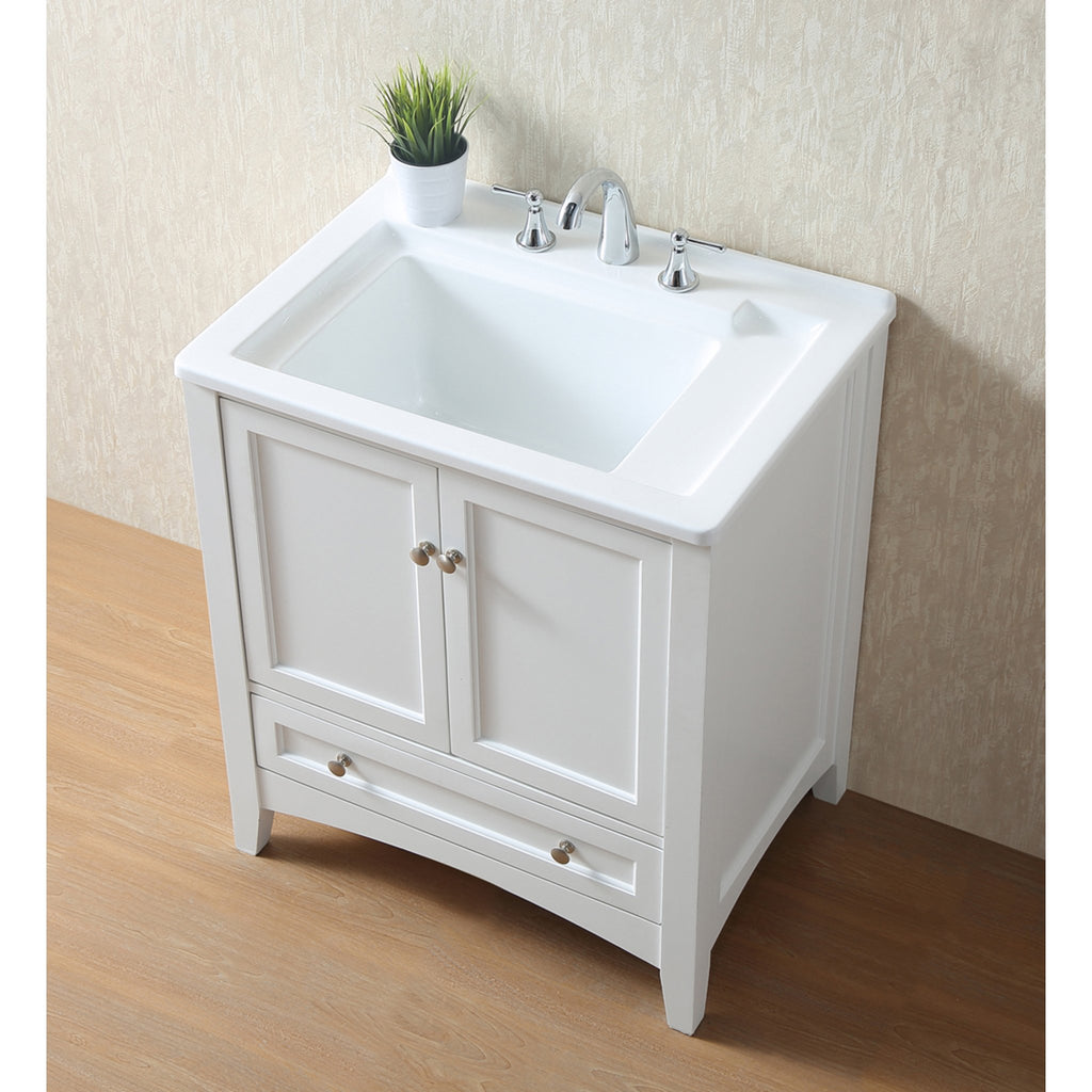 Stufurhome 30 inch White Laundry Utility Sink