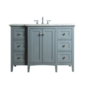 Stufurhome Tower Modern 48 Inches Grey Single Sink Bathroom Vanity