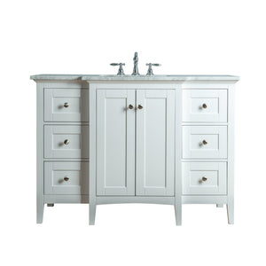 Stufurhome Tower Modern 48 Inches White Single Sink Bathroom Vanity