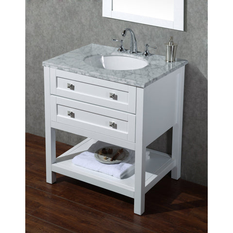 Stufurhome Marla 30 inch Single Sink Bathroom Vanity with Mirror