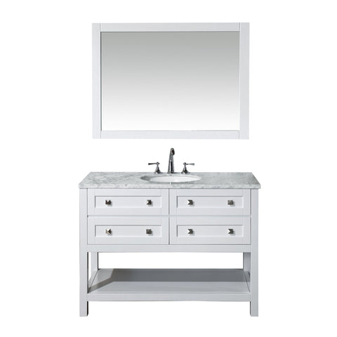 Stufurhome Marla 48 inch Single Sink Bathroom Vanity with Mirror