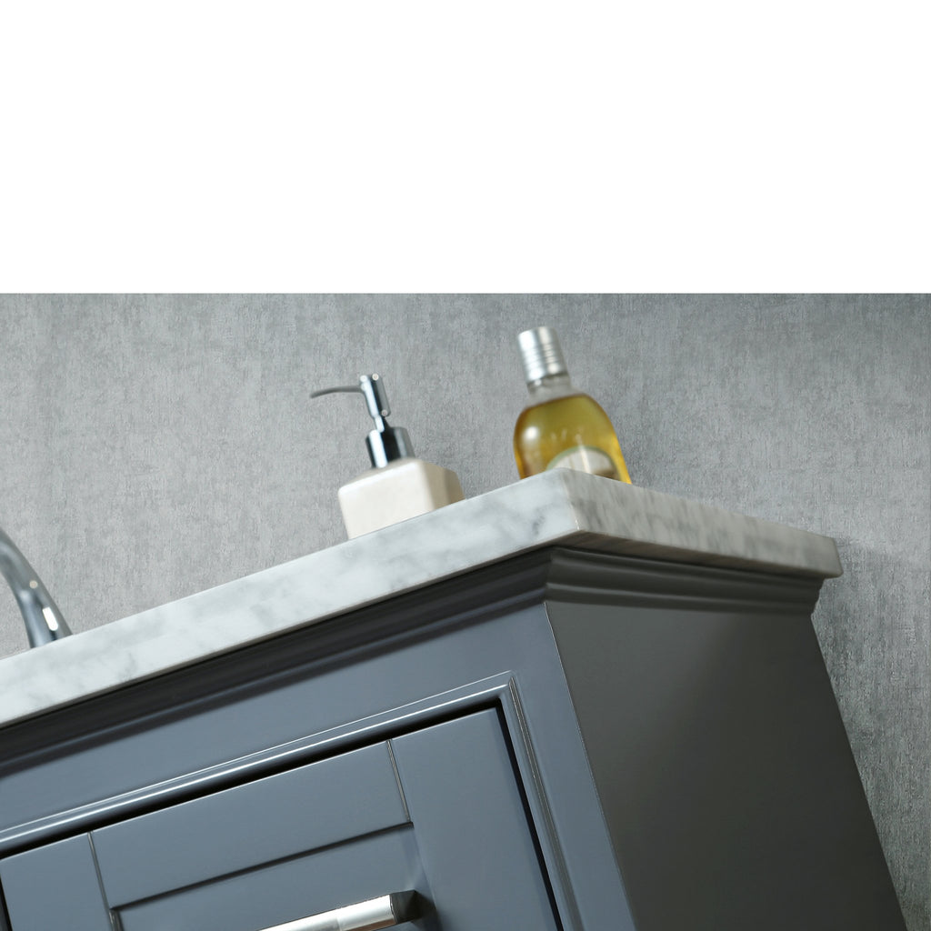 Stufurhome Newport Grey 36 inch Single Sink Bathroom Vanity with Mirror