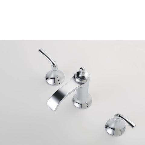 Stufurhome Brantley Chrome Bathroom Faucet Set in Chrome