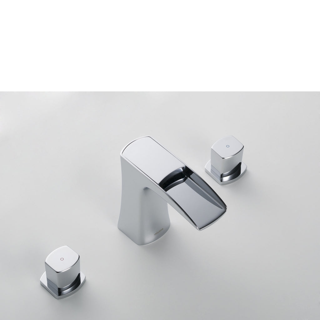 Stufurhome Cascade Bathroom Sink Faucet Set in Chrome