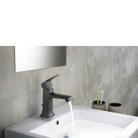Stufurhome Ella Single Hole Faucet in Matte Black