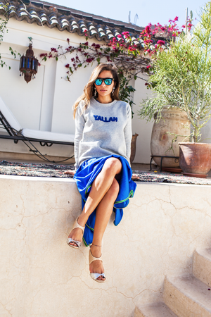 Yallah Cotton-Blend Jersey Sweatshirt