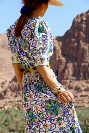 Anella Printed Wrap Dress